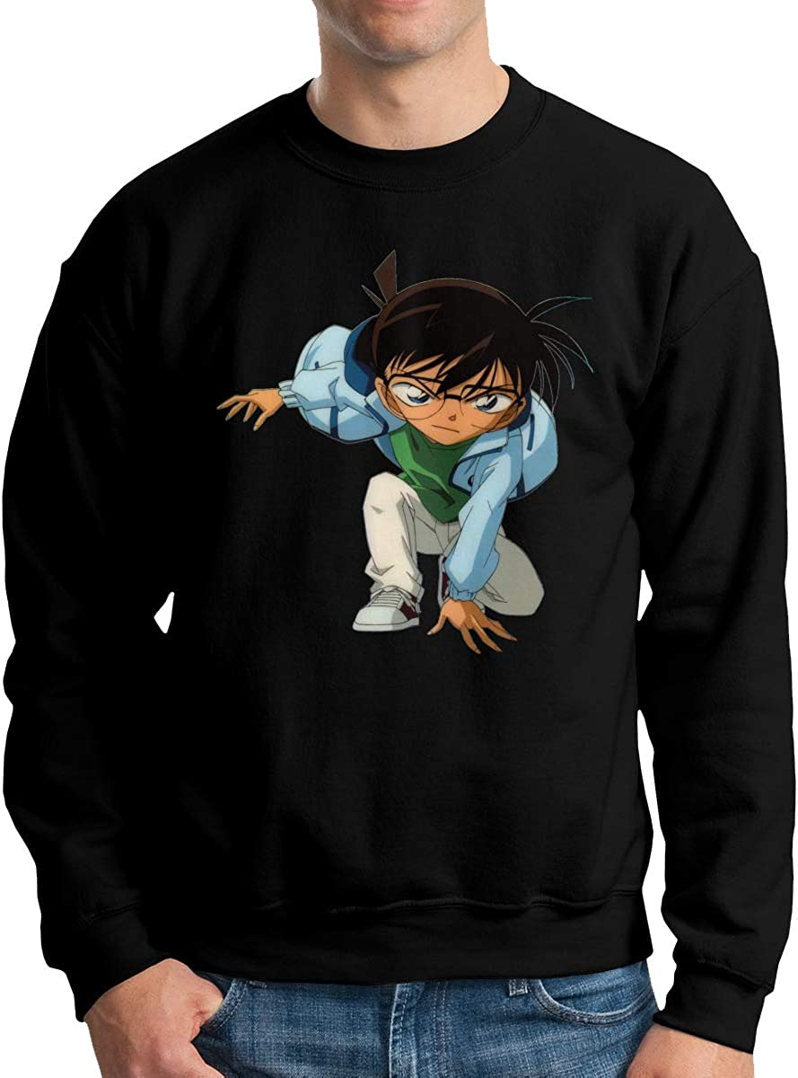 Lhdesign Mens Detective Conan Action On Chest Freestyle Long Sleeve