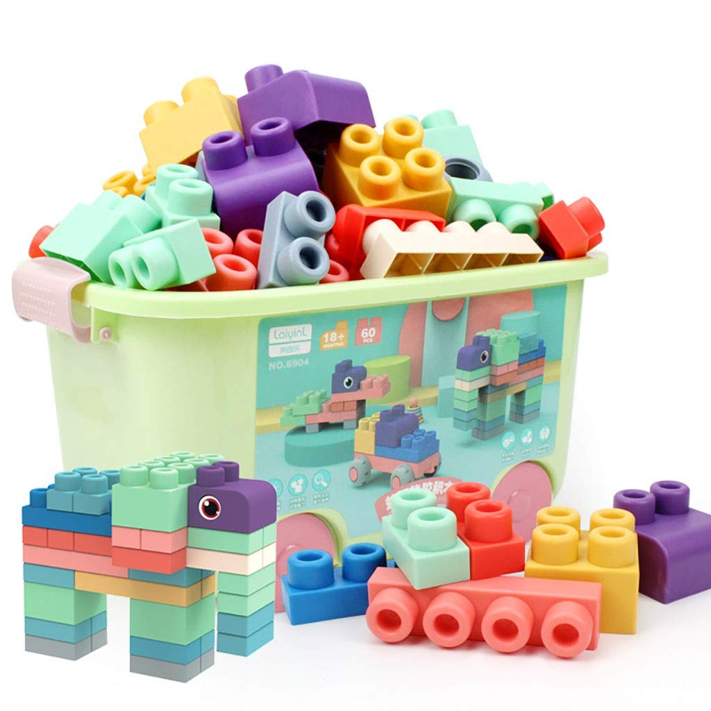 Nontoxic environmental predection ABS material soft plastic large particles building blocks boys and girls assembled creative educational toys early education 36 years old amazing toys