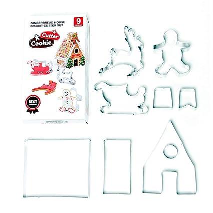 Stampo Stella Di Natale.Formine E Stampi Per Biscotti 3 Stella Di Natale Fondente Cutter Per