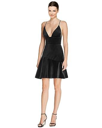 942314f546 ABS by Allen Schwartz Velvet Spaghetti Strap Ruffle Hem Cocktail Dress
