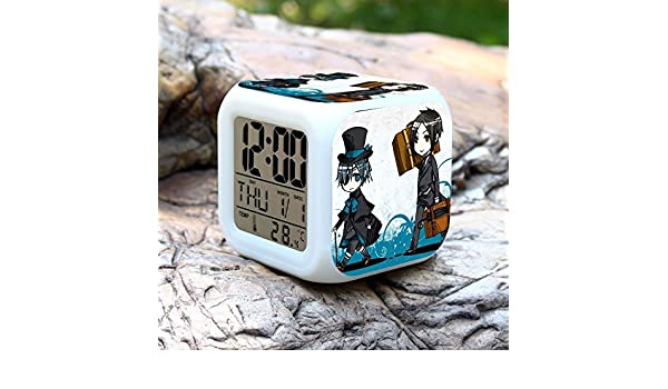 Back To Search Resultstoys & Hobbies Anime Black Butler Digital Action Figure Alarm Clock Collectible Model Toy Saat Despertador 7 Colors Change Toys Doll Ac74