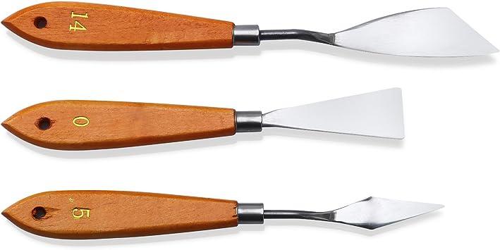 Cuchillo de paleta de pintura de Acero Inoxidable Pintura al Óleo Espátula Raspador Herramienta DSU de mezcla