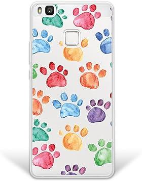 WoowCase Funda Huawei P9 Lite, [Hybrid] Huellas Perro Case Carcasa ...