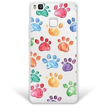 WoowCase Funda Huawei P9 Lite, [Hybrid] Huellas Perro Case ...