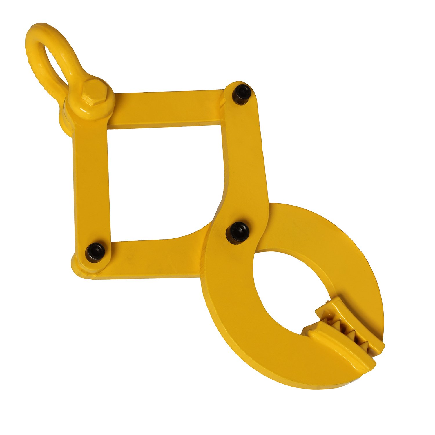 Bob's | Pallet Puller Clamp in Yellow, 6,000 lb pound Pulling Capacity, Pallet Grabber Hook Puller Tool for Forklift Chain