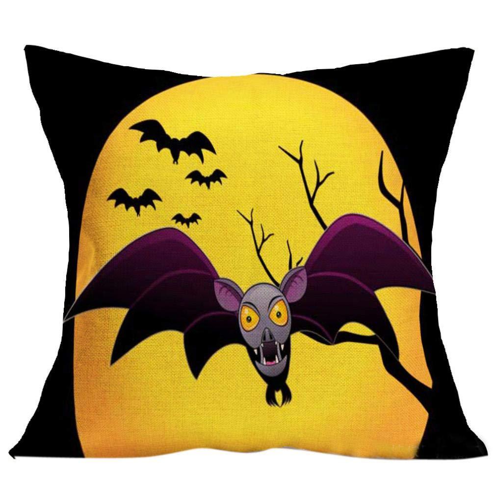 SEWORLD Halloween Almohada Almohada (Revestimiento de Funda ...