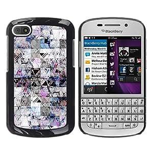 FECELL CITY // Duro Aluminio Pegatina PC Caso decorativo Funda Carcasa de Protección para BlackBerry Q10 // Sketch Lines Pen Ink Chaos Abstract