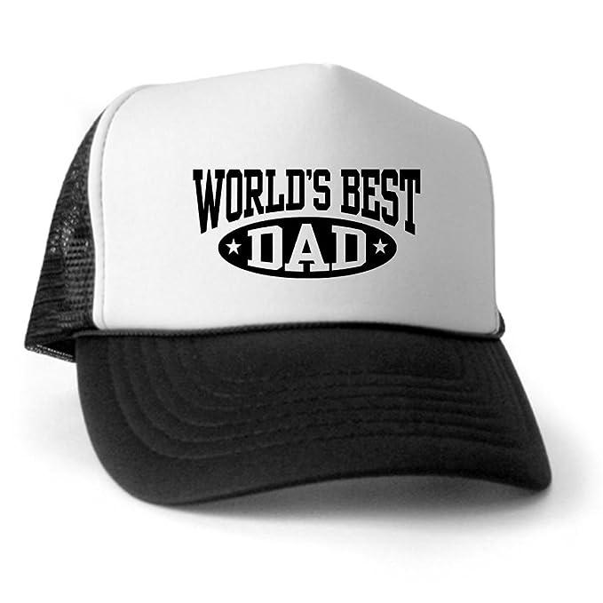 Amazon.com  CafePress - World s Best Dad Trucker Hat - Trucker Hat ... 0031ffcd173