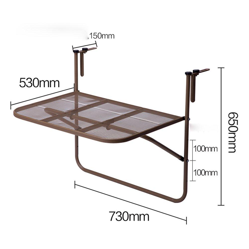 ZZHF 折りたたみテーブル鉄のバルコニーラック吊り壁棚掛け布団Windowsill植木鉢収納棚フラワースタンドカジュアルテーブル4色650 * 730mm デスク ( 色 : A ) B078XPHSJNA
