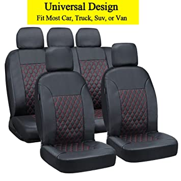 Amazon Big Hippo PU Leather Seat Covers Universal Car Seat