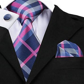 WOXHY Corbata de los Hombres Juego de Gemelos de pañuelo con ...