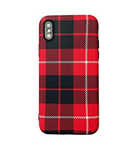 iPhone 7 Plus Case, iPhone 8 Plus Case,Ebetterr Plaid Protective Cover Shell,Matte Slim Fit Anti Scratch Shockproof Soft TPU Bumper Flexible Rubber Gel Silicone Case for iPhone 7 Plus & iPhone 8 Plus