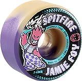 Spitfire Wheels Jamie Foy Formula Four Conical Full Purple/Natural Swirl Skateboard Wheels - 54mm 99a (Set of 4)