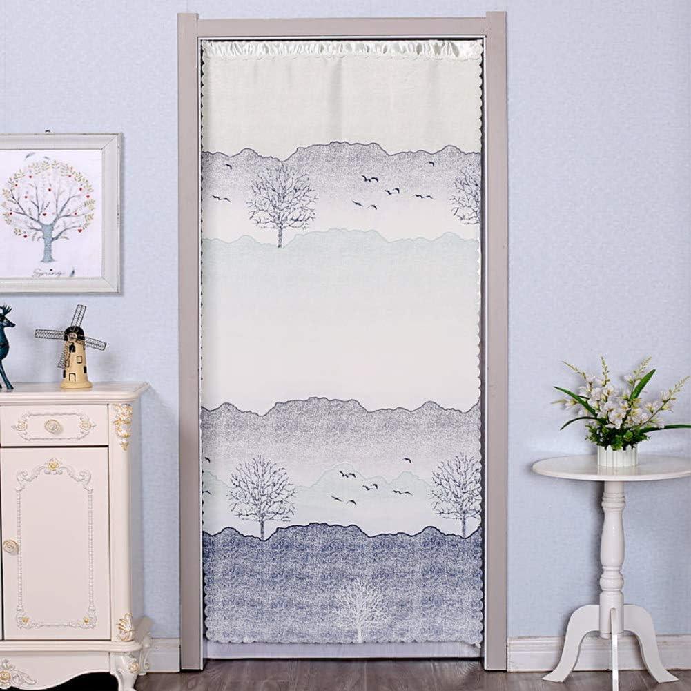 KE & LE Cortina de partición de Tela, antienfriamiento, Simple, Decorativa, para el hogar, Dormitorio, silenciosa, antimosquitos, poliéster, K, W:90cmXH:200cm: Amazon.es: Hogar