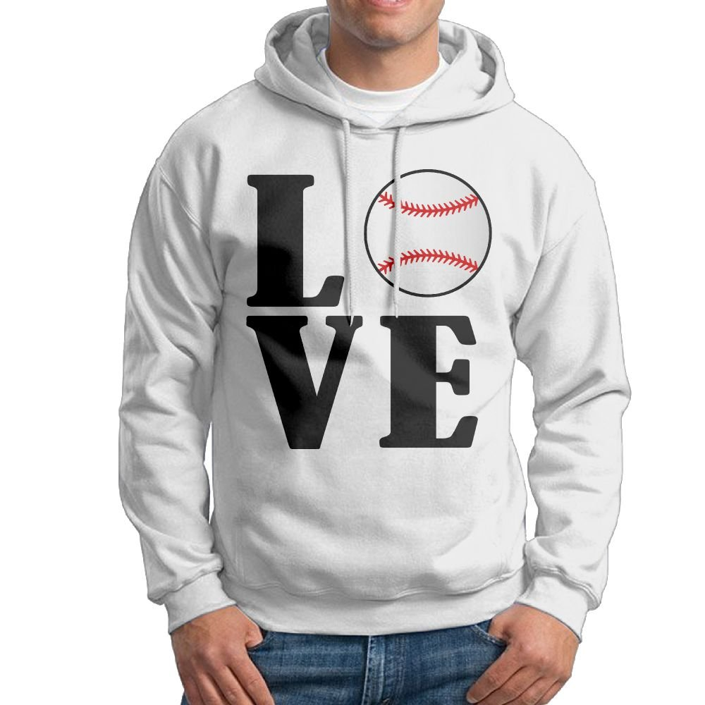 Kkajjhd Love Baseball Sweatshirt Autumn Winter Mens Long Sleeve Pullovers