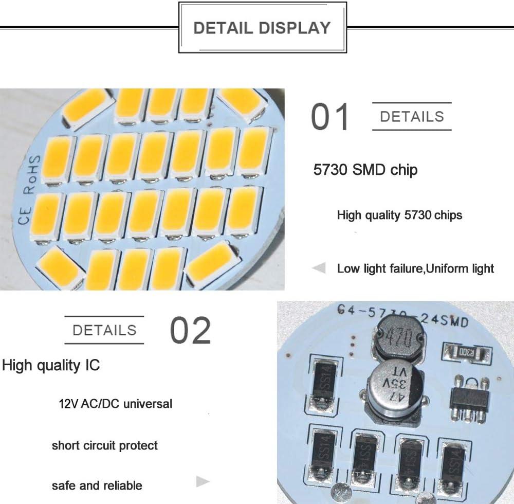 6X G4 Lampenfassung LED Fassung 6X G4 LED Lampe warmweiss 300LM 2.2W DC//AC12V