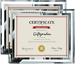 Giftgarden 8.5x11 Picture Certificate Document Frames Glass Photo Frame Set for Tabletop Display, Pack of 2