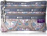 LeSportsac Classic 3 Zip Pouch, Amy Jane Lilac