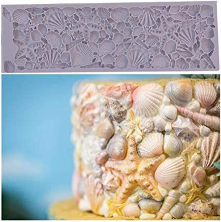 Seashell Sea Shell Silicone Fondant Mold Cake Decorating Chocolate Baking Mould