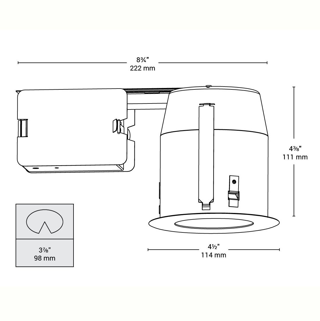 Bazz 500-140 500 Series Halogen Lighting Kit Directional Easy Installation 4.5-in White Dimmable