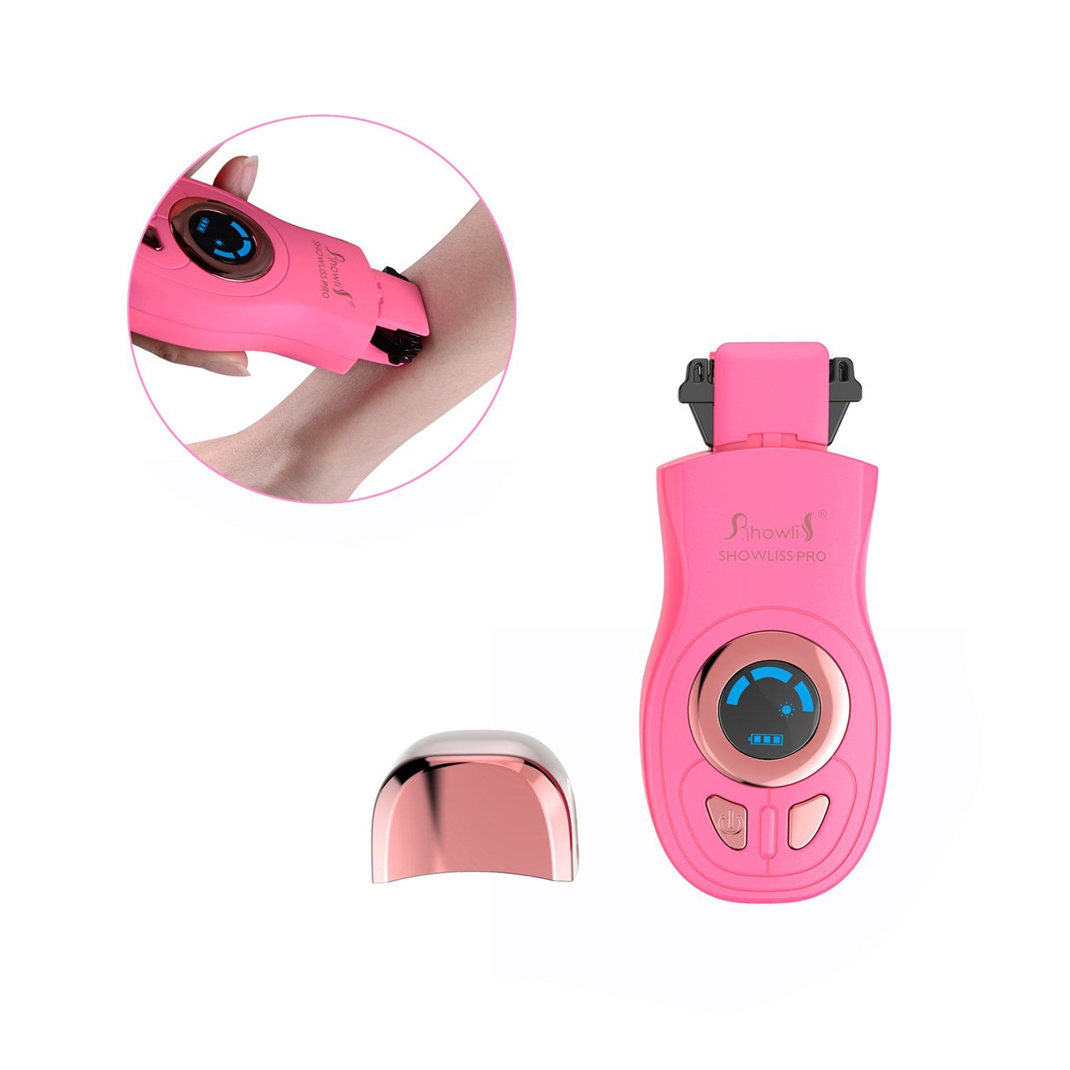 Showliss Hair Removal System, Newest Design Hair Removal Machine with Dual Thermal Fuse Heating System - PD11 (Pink) TRTAZ11A