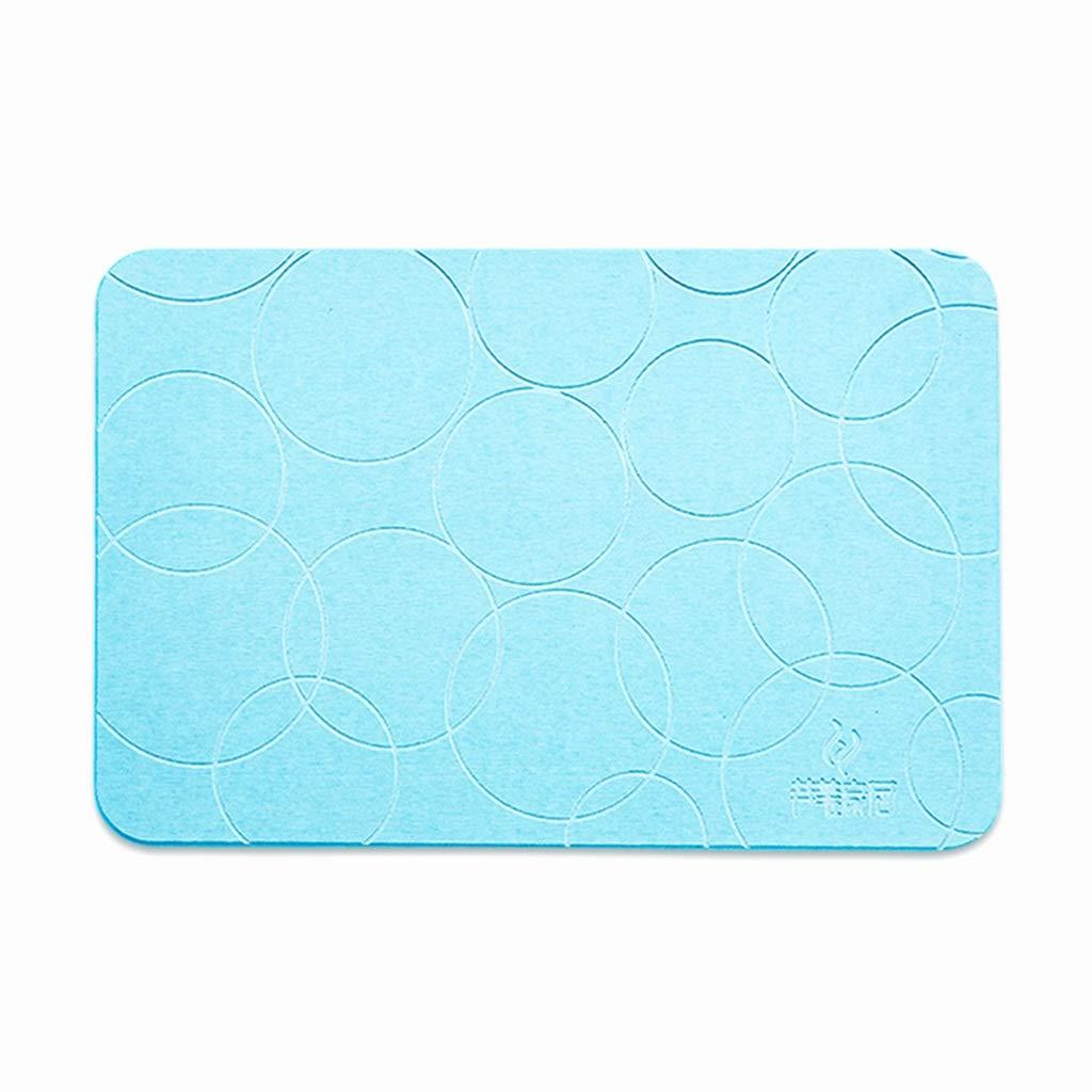 珪藻土のバスマット、浴室のシャワーの床60 * 39cmのための速い乾燥の滑り止めの吸収性の抗菌バスマット (Color : B) B07SL3QCC4 B