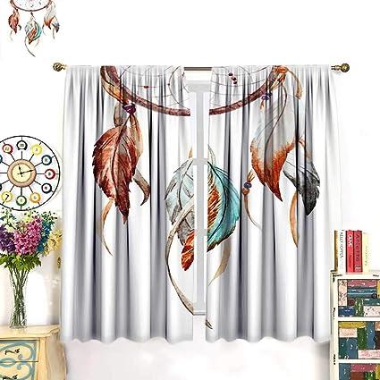 Amazon com: WinfreyDecor Feather Customized Curtains