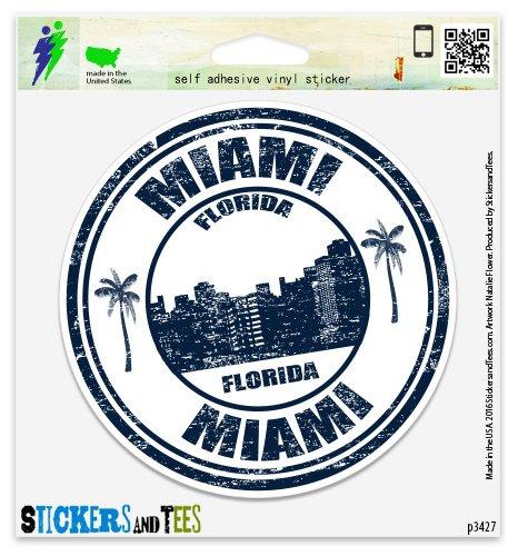 - Miami Florida Vinyl Car Bumper Window Sticker 2