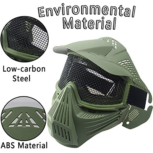 WELCOMEUNI Outdoors Safety Protection Airsoft Paintball Full Face Skull Skeleton Mask Tactical Military Halloween]()