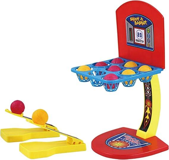 Divertido Mini Juego de Mesa Juego de Disparos de Baloncesto de Mesa Juego de Juguete para Niños Niños Cumpleaños Festival Estilo B: Amazon.es: Juguetes y juegos