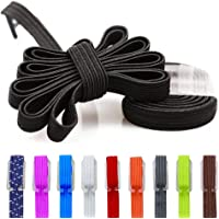 DB No Tie Shoelaces - Flat Elastic Laces with Adjustable Tension - Slip-on Any Shoes