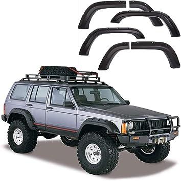 For 1984-2001 Jeep Cherokee XJ 4DR 5/'/' Wide Offroad Pocket Rivet Fender Flares