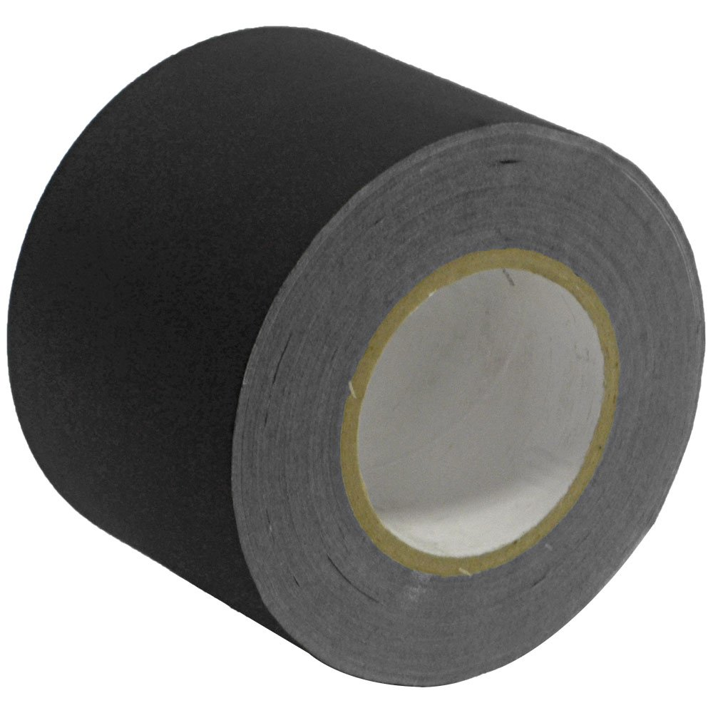 Seismic Audio - SeismicTape-Black604-2Pack - 2 Pack of 4 Inch Black Gaffer's Tape - 60 yards per Roll by Seismic Audio (Image #1)