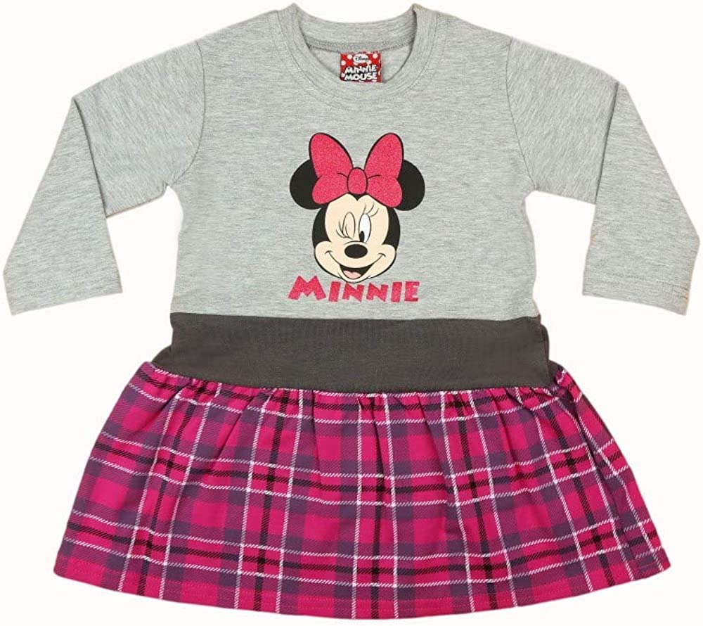 Minnie Mouse M/ädchen Baby Kleid Set Thermo-Leggings Warme Hose und Warmes Kleid Baumwolle in 3 Farben Outfit Gr 80 86 92 98 104 110 116 122 auch f/ür Winter