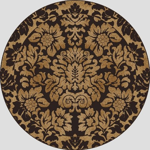 Radici USA Transitional round Area Rug 5' Brown-Gold Como - Radici Collection Rugs