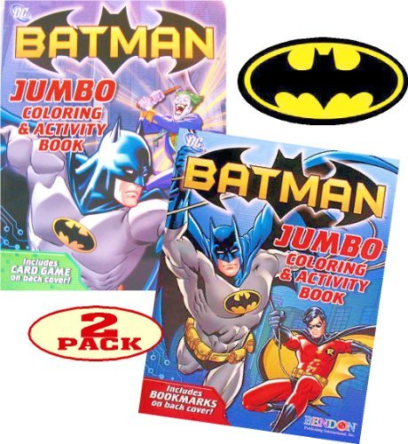 Batman Coloring and Activity Book Set (2 Coloring Books)