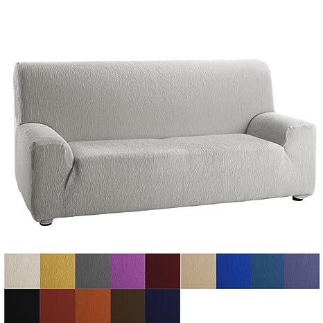 Funda de Sofá Elástica Modelo Dallas, Color Marfil, Medida 4 Plazas – 240-270cm
