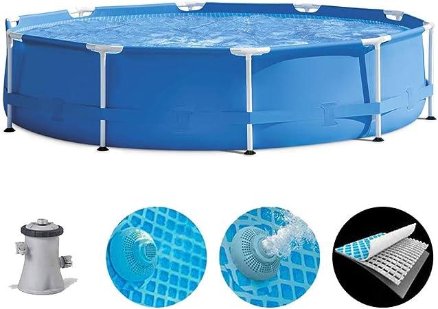 ZZQH Piscina Desmontable Tubular con depuradora, Piscina automontable Diversión Familiar de Agua en Verano para Niños y Adultos, 144 in * 30 in: Amazon.es: Deportes y aire libre