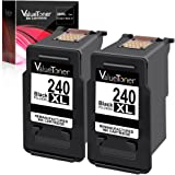 Valuetoner Remanufactured Ink Cartridge Replacement for Canon PG-240XL 240 XL for Canon Pixma MG3620 MX532 MG2120 MG2220 MG3120 MG3122 MG3220 MG3222 MX432 MG3520 MX452 MX512 High Yield (Black, 2 Pack)