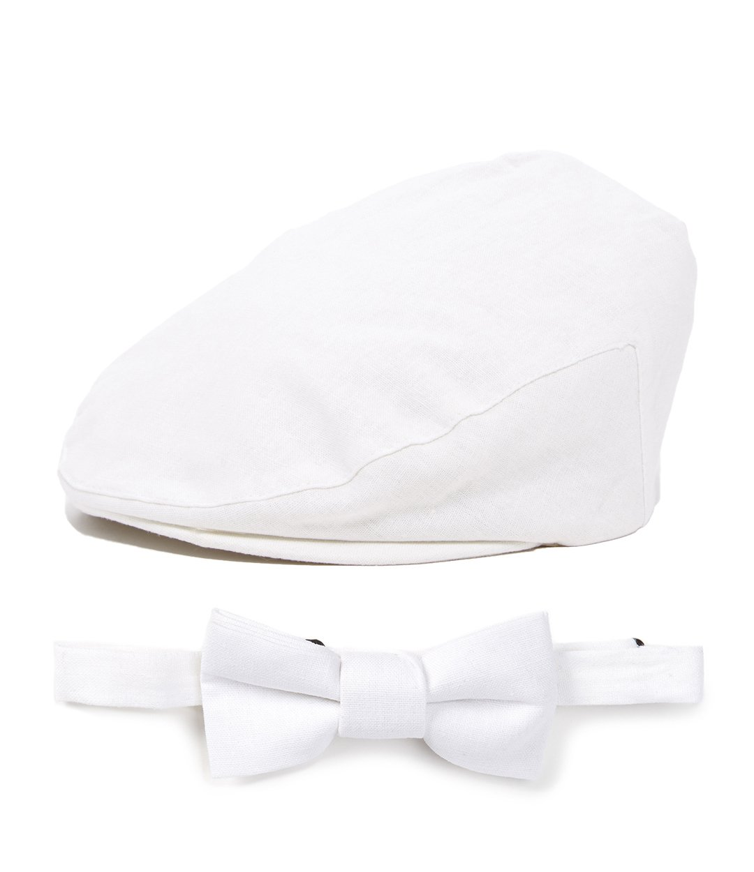 Born to Love Baby Driver Cap and Bow tie Sets (s/M 52 cm (2-3), White Driver)