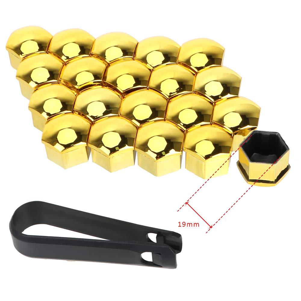 Lot de 20 Capuchons de Protection pour /écrous de Roue de Voiture 17 mm//19 mm