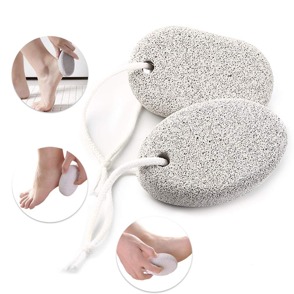Natural Pumice Stone for Feet 2 PCS, Phogary Lava Pedicure Tools Hard Skin Callus Remover for Feet and Hands - Natural Foot File Exfoliation to Remove Dead Skin