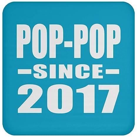 Pop-Pop Since 2017 - Drink Coaster Turquoise Posavasos para ...