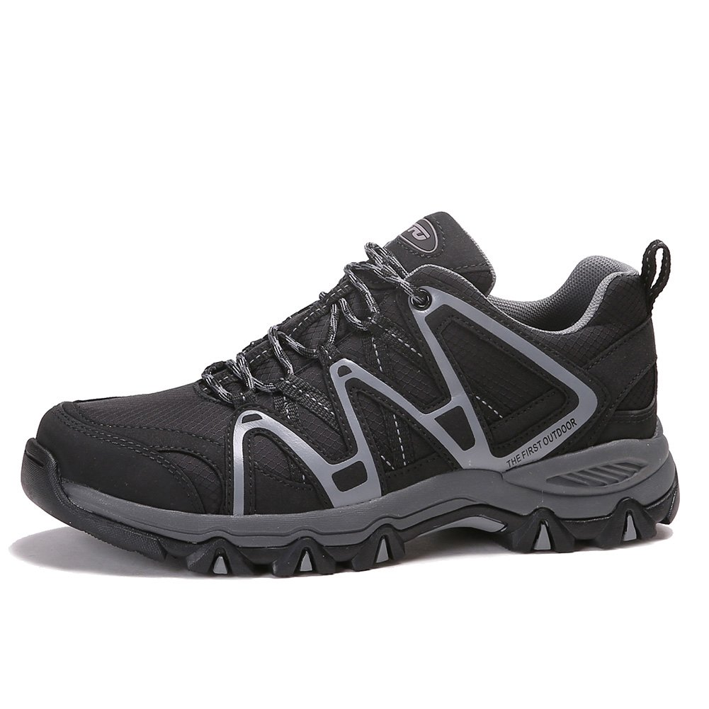 The First Outdoor Mens Lightweight Waterproof Breathable Hiking Running Shoes Sneaker, US 8