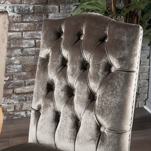 Cello Grey New Velvet Dining Chairs (Set of 2) by Great Deal Furniture (Image #1)