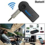 CloudWorks Universal Bluetooth Car Kit Handsfree 3.5mm Streaming Car A2DP Wireless AUX Audio Music Receiver Adapter with Microphone for Iphone IOS Android Cell Phones