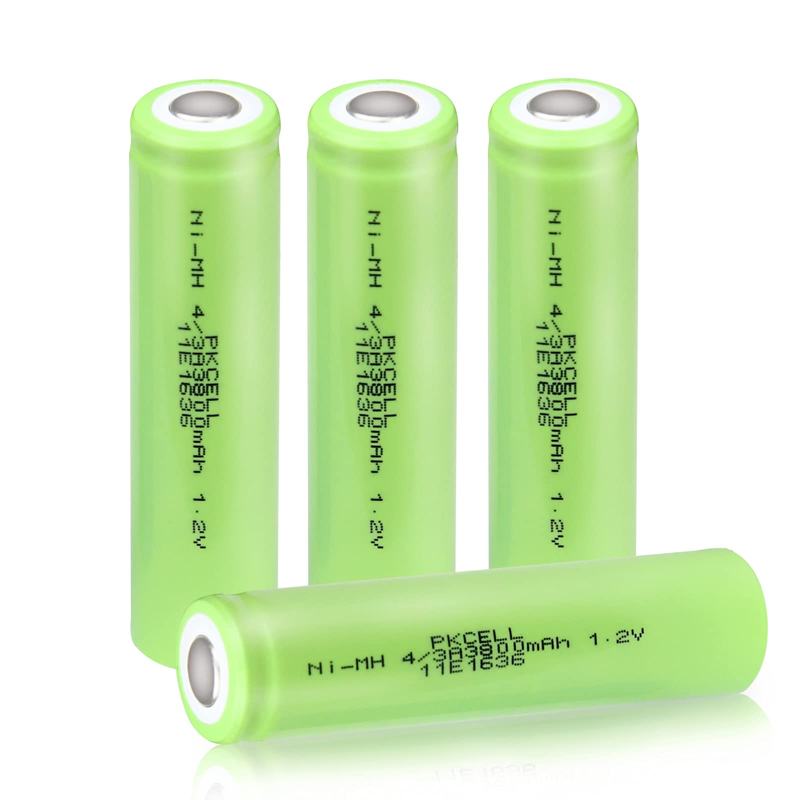 4/3A 3800mAh Ni-MH Rechargeable 1.2v Batteries with Flat Top Pack of 4pc(They are Not 1865mm Size Batteries)