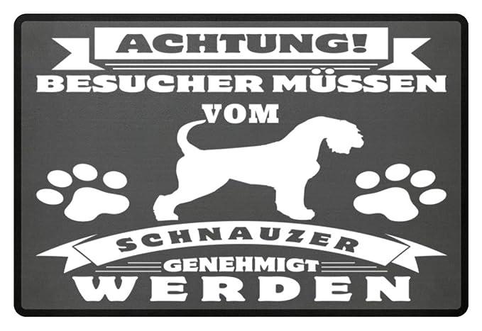 Los visitantes deben ser aprobados por Schnauzer - Fußmatte ...