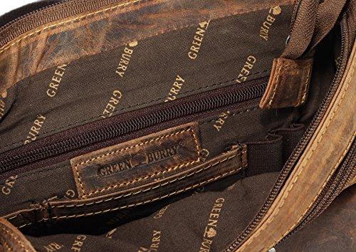 Vintage bandolera piel 28 cm Revival marrón Greenburry bolso 1 Vol TdHHCwq