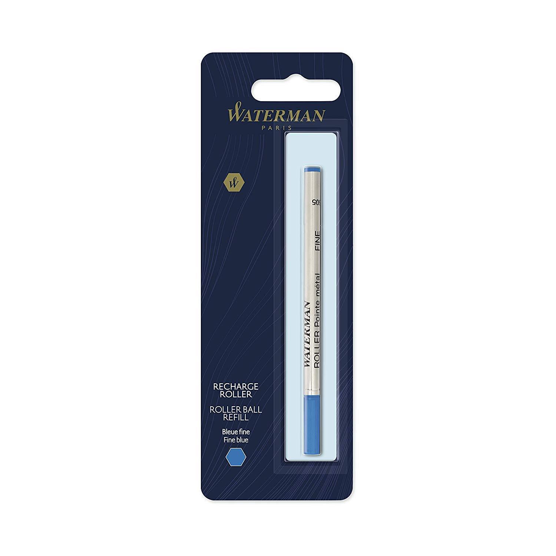 1 Pezzo Punta Fine con Inchiostro Blu Waterman Ricarica per Penna Roller